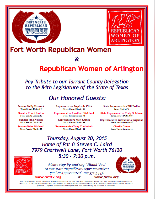 August 20th Tarrant County Delegation